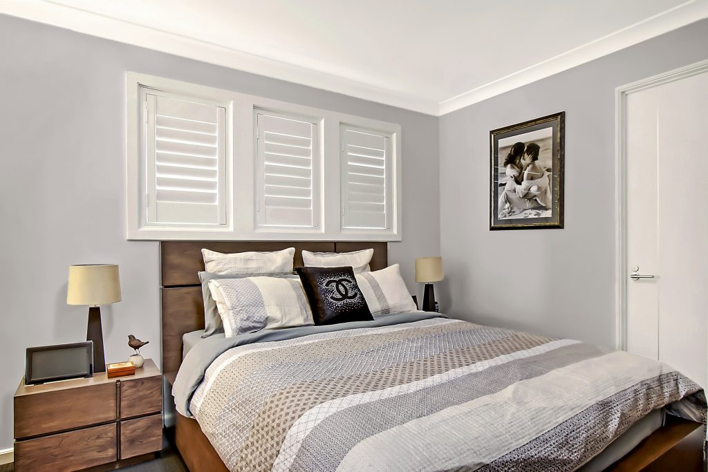 Single Hinge Plantation Shutters in Bedroom
