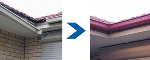 Modern Group - Gutter & Downpipe Repairs Before & After
