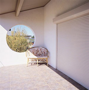 Roller Shutters over Sliding Door
